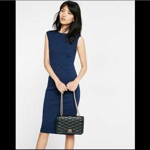 NWT Express back zip midi sheath dress